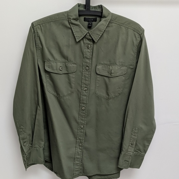 J. Crew Tops - J.Crew Boyfriend Utility Shirt, size small